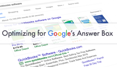 How to feature on Google's answer box